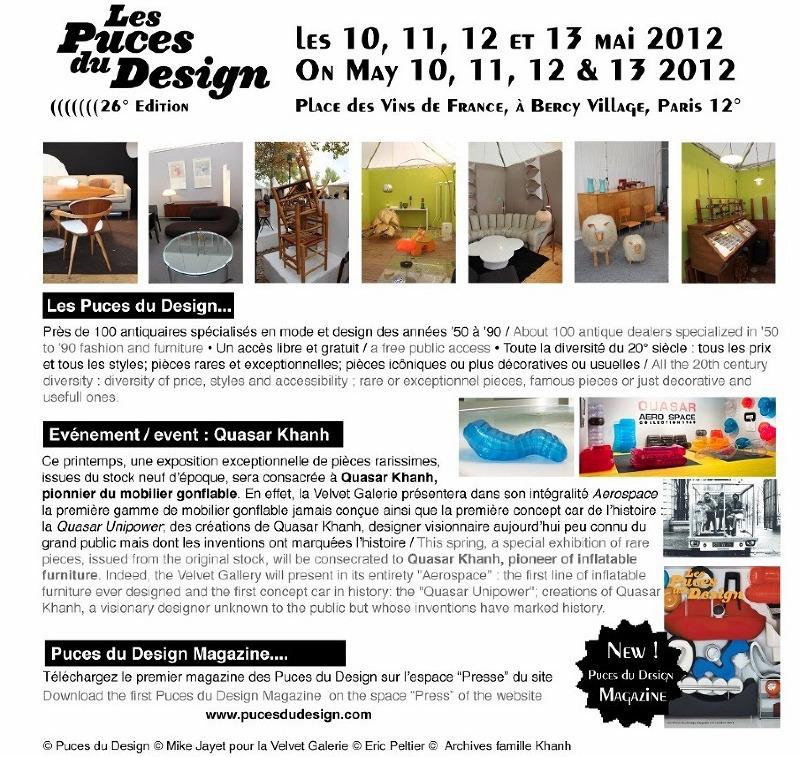 quasar khanh le pionnier du mobilier gonflable puces du. Black Bedroom Furniture Sets. Home Design Ideas