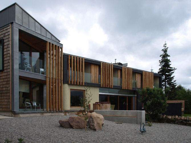 Loch maree rural design architects isle of skye and for Balcony louvres